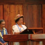 David Kaahaaina KSKʻ49 and Ella Kauwale McComber KSKʻ49 honor their deceased classmates