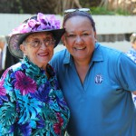 Dawn Anahu Fernandez KSKʻ44 and Director of Alumni Relations Dancine Baker Takahashi KSK'79