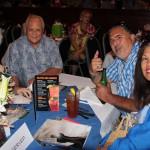 Jan Ching KSK 60, Hilo Ching, Marshall Fergerstrom and Helen Fergerstrom KSKʻ74 enjoying their evening.