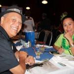 Dr. Kamuela Kaahanui KSKʻ67 and Brenda Blake-Maika KSKʻ67 cheering on class of 2015.