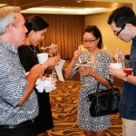 Guests enjoying delicious pūpū made by talented local chefs