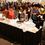 Guests participating in the silent auction