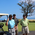 First Hawaiian Bank's Bob Fujioka, Jon Fukugawa and Dave Honma