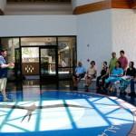 Cultural Specialist Mark Ellis focuses on Mālama Honua Voyage in Hale Mana.