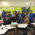 Kaimana Kong KSK'96 spoke to a 10th grade homeroom.
