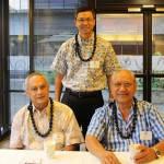 From left, Arthur Loebl KSK'57, Derrick Watson KSK'84 and Sam Yong KSK'53