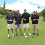 Class of 1991's Roger Cabral, Kekoa Beaupre, Keoni Hansen and Errol Lee.