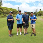 Mason Kuaiwa KSK'84, Michael Medeiros KSK'75, Mark Medeiros KSK'84 and Leroy Lareau KSK'84.
