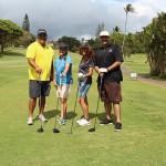 Class of 1988's Lance Katahara, Nadine (McNicoll) Jacang, Lehua (Ford) Abrigo and Rodney Kahalepuna.