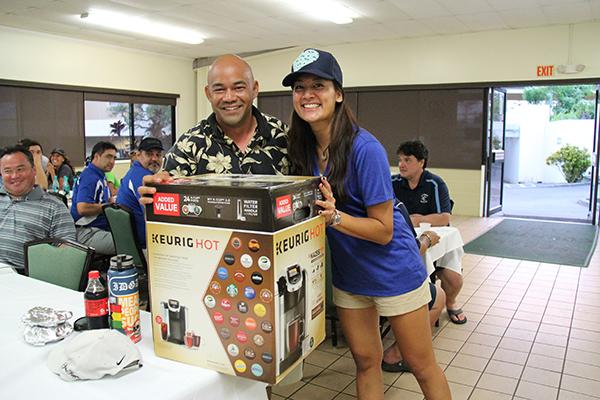 Raffle prizes for golf tournament