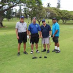 1966 classmates Michael Asam, Eric Wong, Koiku Richardson and Robert Pidot.