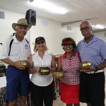 Trustee's Cup winners Ron Lee KSK'66, Kathleen Dupont KSK'66, Sarah (Miles) Hohner KSK'66 and Anthony Bento KSK'66.
