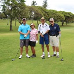Class of 1966's Curtis Kekuna, Louella (Inouye) Simeona, Ron Lee and Lee Muller.