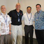 Kevin Cockett KSK'84, Pono Maʻa KSK'82, Rob Nobriga KSK'91, and Kainoa Daines KSK'97