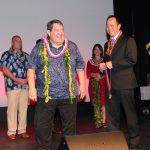KS CEO Jack Wong presented Jan with the Order of Ke Aliʻi Pauahi medal.