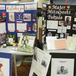 Students created displays honoring service men and women