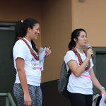 Event Chairs Kailee Yoshimura KSH'17 and Cienna-Lei Daog KSHʻ17 welcome the participants