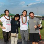 Co-chair Cienna-Lei Daog KSH'17, KSH Alumni Coordinator Jodie Kimura, Co-Chair Kailee Yoshimura and Kumu Mark MacInnis