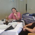 Jessica Bautista KSK'04, B. Maile Lau Wong KSK'92 and Lori Nauka Bishop KSK'85 meet up at 2017 Warrior Networking in West Hawaii
