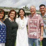 Recipient Elizabeth Blaisdell & family