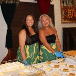 Kelly and Lei from Hālau Nā Pualei o Likolehua. The halau volunteered to help with the dinner service.