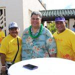 Gerilynn Lutu-Fosi KSK'83, Abe Mokunui KSK'82 and Geri's husband, Vaʻa.