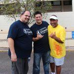Moke Kaʻapana KSK'87, Rob Lee KSK'87 and Kalani Fronda KSK'88.