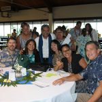 Class of 1977 enjoying the Poʻo Kula Reception.