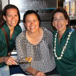 Alumni Week crew Shannon Ladd KSK'90, Pua Low KSK'90 and Parent Alumni Relations Administrator Mervlyn Kitashima KSK'73.