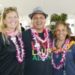 2017 Taste of Kamehameha judges, Director of Advancement & Executive Director of the Pauahi Foundation, Tara Wilson, Kahu Kordell Kekoa KSK'80, and Kehau Bishaw KSK'73.